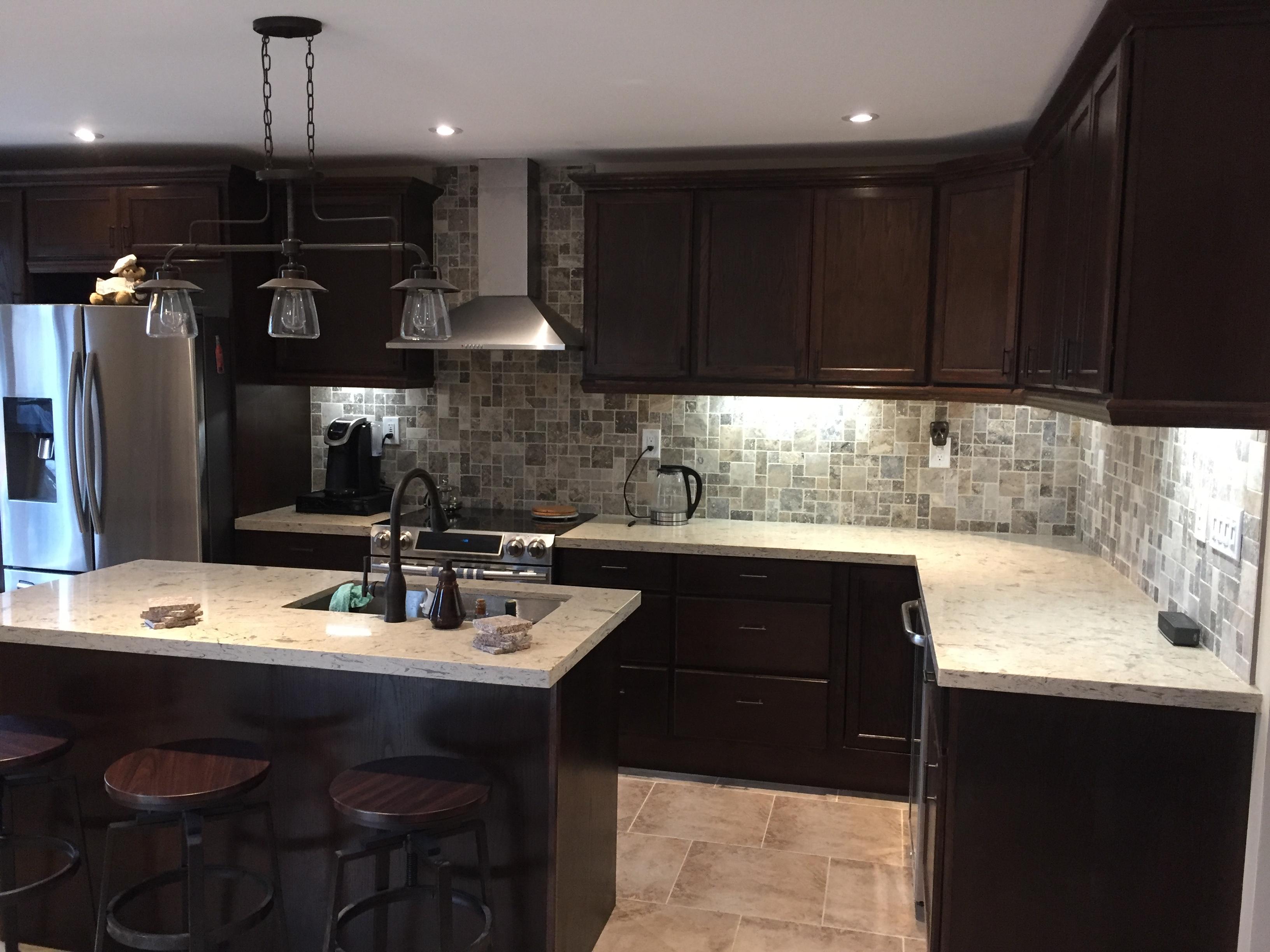 kitchen renovation back lights valance